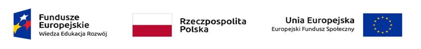Belka z logotypami: Fundusze Europejskie - Wiedza Edukacja Rozwój; Rzeczpospolita Polska; Unia Europejska - Europejski Fundusz Społeczny