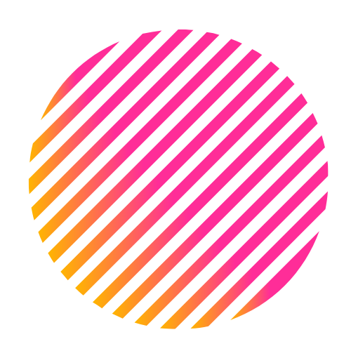 Grafika przedstawiajaca różowe koło.